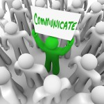 PR communicate in crowd