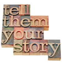Tell them your story small