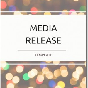 media release template how to write a media release