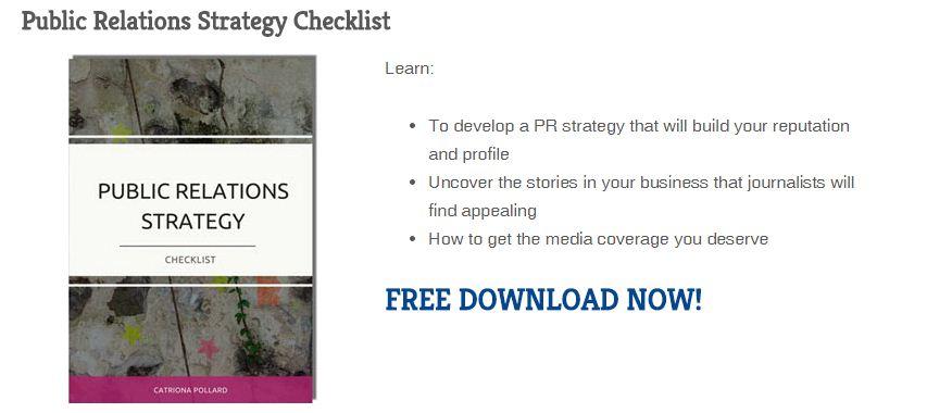 PR Strategy Checklist